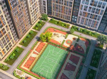 Спортивная площадка во внутреннем дворе